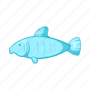 animal, cartoon, fish, seafood, sign, style, water icon
