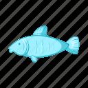 animal, cartoon, fish, seafood, sign, style, water