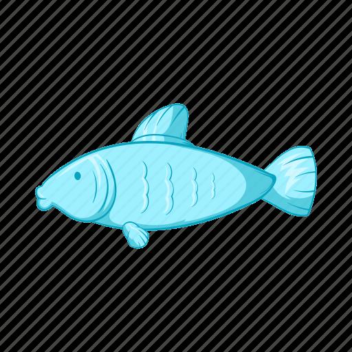 animal, cartoon, fish, seafood, sign, style, water icon