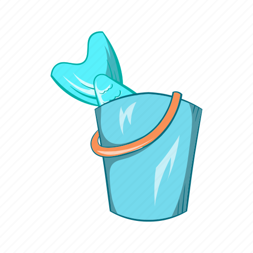 bucket, cartoon, fish, fishing, sea, sign, water icon