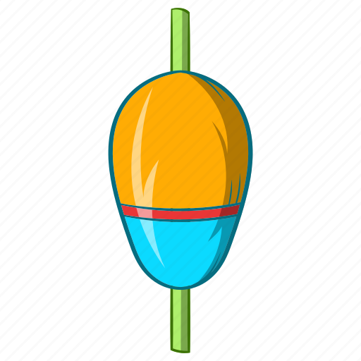 Bobber, cartoon, equipment, fishing, float, object, sign icon - Download on Iconfinder