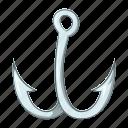 cartoon, catch, equipment, fishhook, fishing, hook, sign