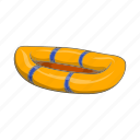 boat, cartoon, equipment, inflatable, rubber, sign, travel icon