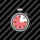 lap, stop, stopwatch, time, calendar icon