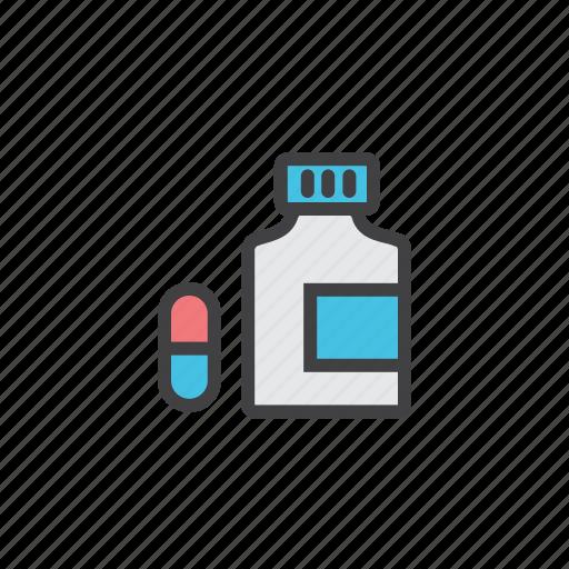 bottle, medicine, pills, vitamins icon
