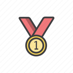 award, first, gold, medal, place, prize icon