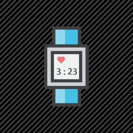 creative, grid, hand, heart, smartwach icon