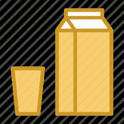 breakfast, food, healthy, milk icon