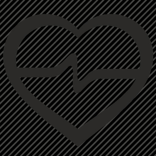 cardio, exercise, heartbeat, sport icon