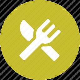 dining, eat, food, fork, knife, restaurant, utensils icon