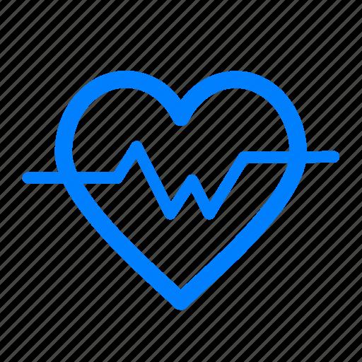 fitness, gym, heart, heartbeat, lifeline, medical, sports icon