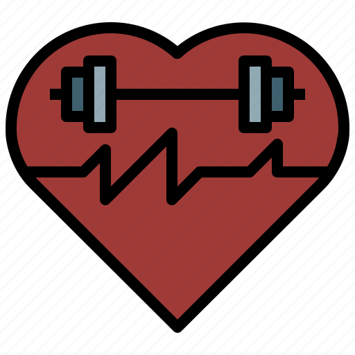 cardiogram, electrocardiogram, fitness, health, loving, medical, shapes icon