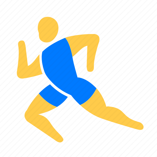 athletic, exercise, fitness, running icon