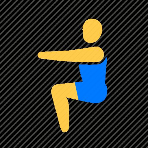 athletic, exercise, fitness, yoga icon