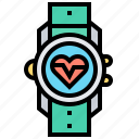 runner, smartwatch, sport, technology, tracking icon
