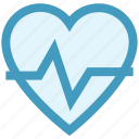 beat, fitness, health, healthy, heart, heart rate, pulse icon