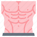 body, fitness, muscle, pack, six icon