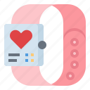 fitness, heart, report, smartwatch, technology icon