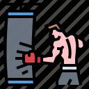 boxing, exercise, exercises, fitness, gym icon