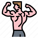exercise, fitness, gym, muscle icon