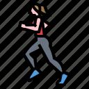 fitness, leg, run, running, shoes icon