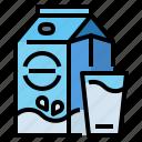 calcium, drink, healthy, milk icon