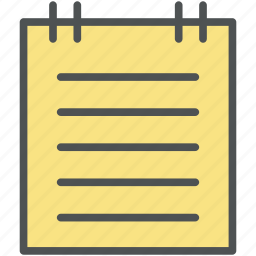 accounts, data, letters, notepad, notes, plan, records, writing pad icon