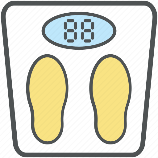 Bathroom scale, obesity scale, scale, tape measure ...