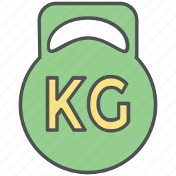 heavy, kg, mass, ton, weight, weight ball, weight kilogram, weightlifting tool icon