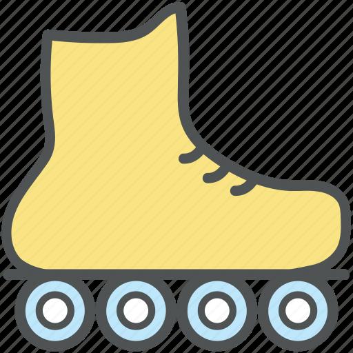 inline skate, roller skate, roller skating, skates, skating, skating shoe, sports shoe icon