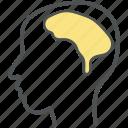 brain, head, human, human brain, human head, man icon