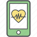 cardiogram app, cardiology, cardiovascular monitor, electrocardiogram, healthcare, heartbeat, icu, medical monitoring icon