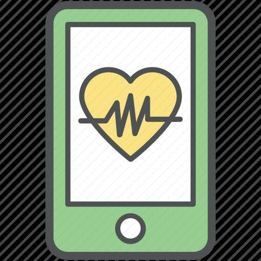 cardiogram app, cardiology, cardiovascular monitor, electrocardiogram, healthcare, heartbeat, icu, medical monitoring icon