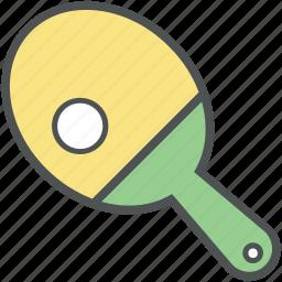 game, sports, table tennis bat, tennis ball, tennis equipment, tennis racket icon