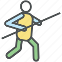 about to throw javelin, athlete, champion, fitness, javelin throw, javelin thrower, skill icon