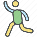 jogger, jogging, male runner, man running, racer, runner, well being icon
