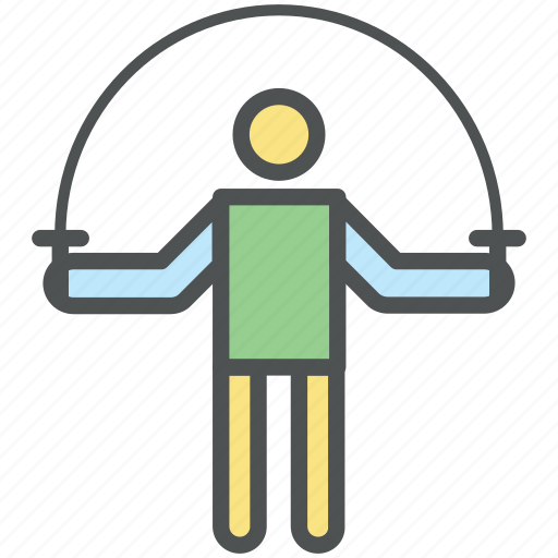 exercise, exercising, fitness, jumping rope, physical exercise, skipping rope icon