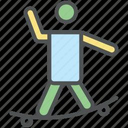 bmx, boarding, jumping, skateboard, skateboarder, skateboarder jumping, skating icon