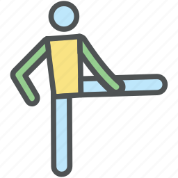 athlete, exercising, movement, physical fitness, player, sportsman, stretching icon