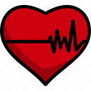fitness, shape, heart, healthy, cardio, lineart, life