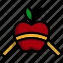 fruit, concept, measurement, apple, tape, fitness, diet