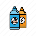 boost, bottle, drink, energy, fitness, sport, water icon