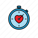 duration, fitness, healthy, love, stopwatch, time, workout icon