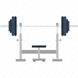 barbell, bench, design, fitness, gym, sport icon