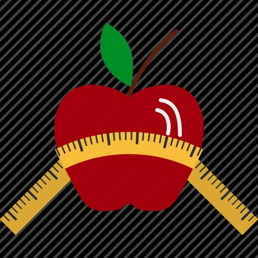 apple, design, diet, fitness, gym, sport icon