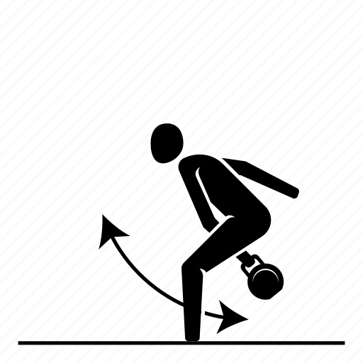 crossfit, fitness, hand, kettlebell, kettlebell swing, one, swing icon