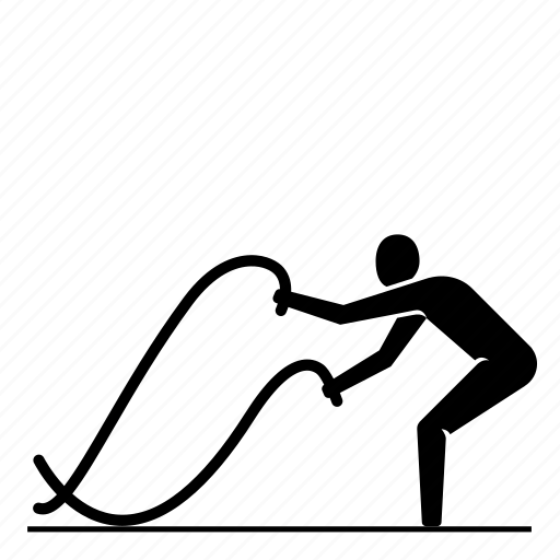 battle ropes, crossfit, endurance, fitness, plyometrics, ropes, strength icon