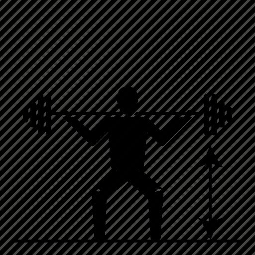 bodybuilding, crossfit, fitness, legs, power, squat icon