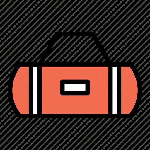 duffle bag, fitness, gym, gym bag, travel icon