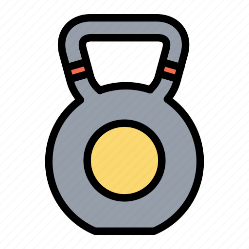 exercise, fitness, gym, health, kettlebell icon